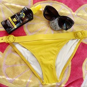 Solid & Striped Yellow Evelyn Buckle Bikini Bottom